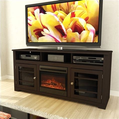 sonax by corliving west lake 60 quot fireplace espresso tv