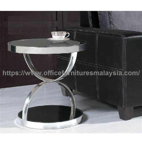 Espresso Glass Murah small sofa side coffee table meja kopi murah malaysia