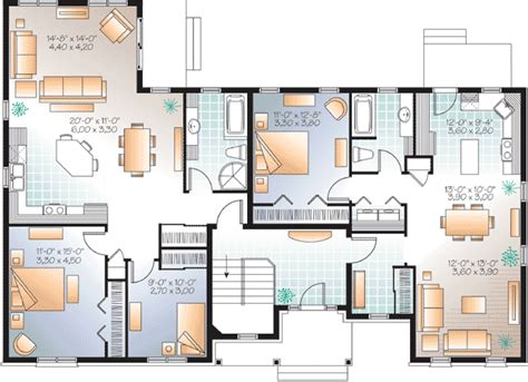 multi generational house plan 21920dr 1st floor master architectural designs