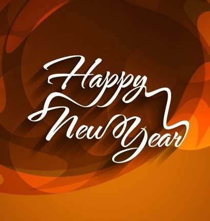 happy new year text vector happy new year text with background vector free
