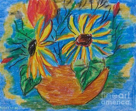 art dinca sunflowers pastel by farfallina art gabriela dinca