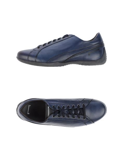 pirelli pzero low tops trainers in blue for lyst