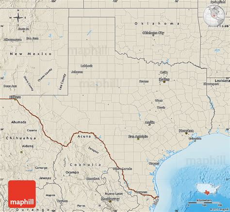 relief map of texas shaded relief map of texas