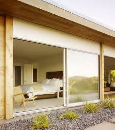 Bedroom Sliding Glass Doors Sliding Glass Doors Bring In Freshness Into This Modern