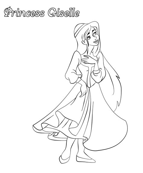 princess giselle coloring pages disney princess coloring pages coloring sheet coloring