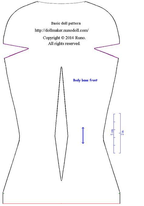 html body pattern basic doll pattern