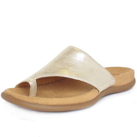 metallic sandals uk gabor sandals lanzarote leather mules in powder metallic