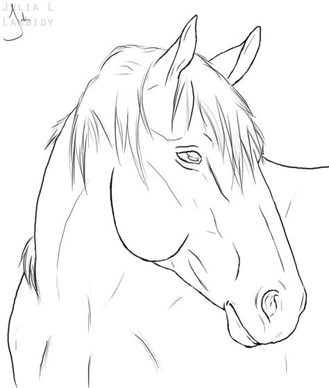 pattern horse drawing horse line drawing horse lineart by lambidy digital art