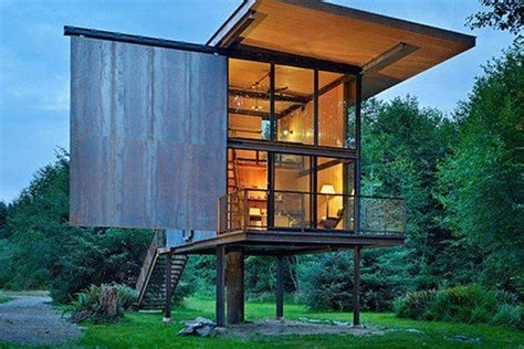 Sol Duc Cabin by Tiny House On Stilts For Flooding Areas Alternative