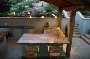 Balinese Rainforest Tile Concrete Countertops & Outdoor Exterior Concrete   Tropical   Kitchen