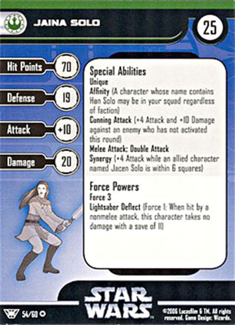 wars miniatures card template jaina wars miniatures wiki fandom powered by