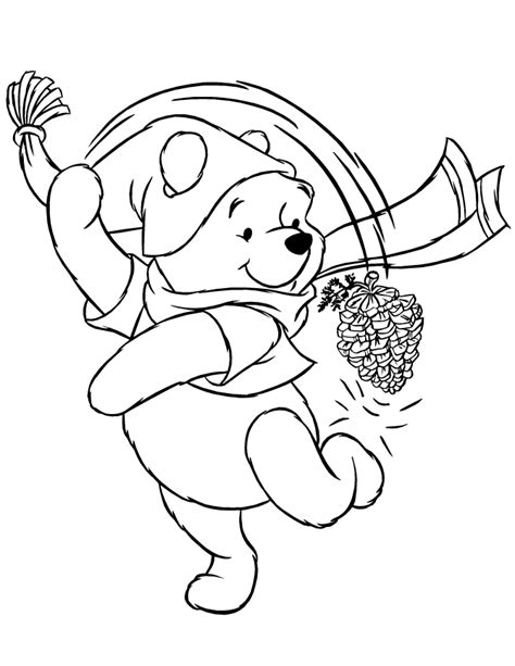 download winter themed coloring pages winnie the pooh or