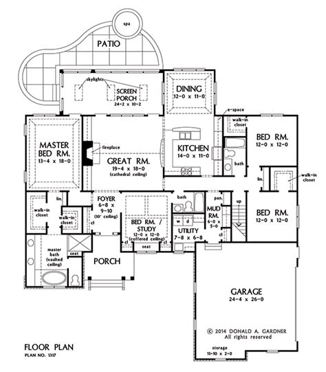 of the house floor plan plan of the week ranch and hillside walkout houseplansblog dongardner