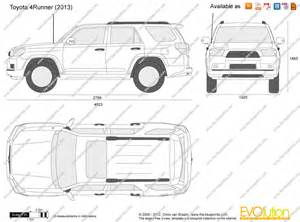 Toyota 4runner Dimensions The Blueprints Vector Drawing Toyota 4runner