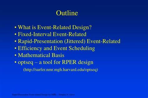 event design ppt ppt rapid presentation event related design for fmri