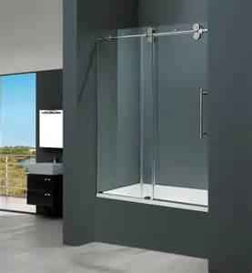 Vigo vg6041chcl6066 60 quot w x 66 quot h frameless clear glass tub door