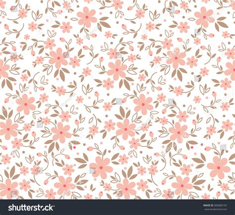 cute pattern passwords cute pattern small flower small pink stock vector
