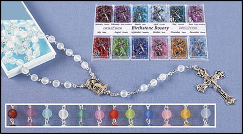 Moonstone Birthstone Rosary Display