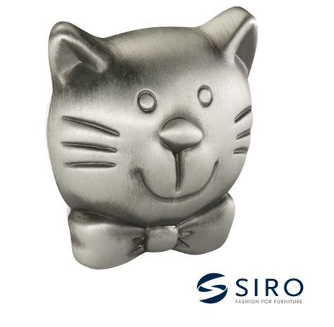Cat Cabinet Knobs by Siro Pewter Effect Cat Cabinet Knob 188636zn50 From