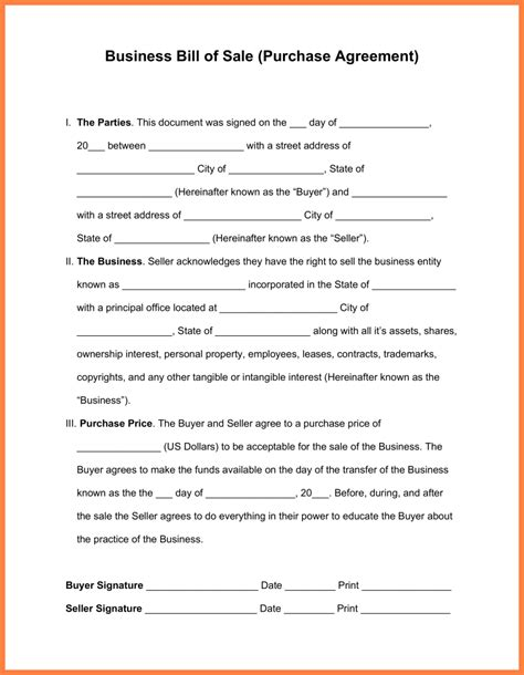 business purchase template 13 business sale and purchase agreement template