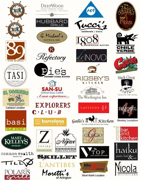 8 best images of restaurant logos and names games restaurant logos restaurants pinterest logos