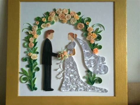 Quilled Bride and Groom   by: Emese Dobos   as seen on the