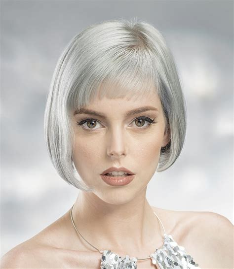 hairstyles for grey hair uk a short grey hairstyle from the urban glam winter 2016