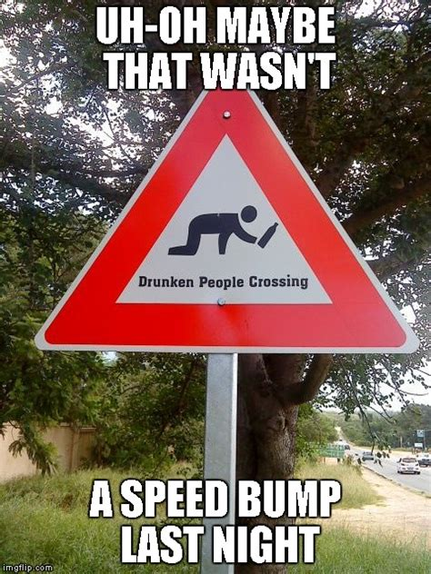 Speed Bump Meme - damn and i thought my town had a lot of drunks imgflip