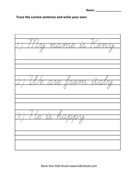Practice Worksheets For Class 1 by Cursive Writing Practice Worksheets Sentences Cursive