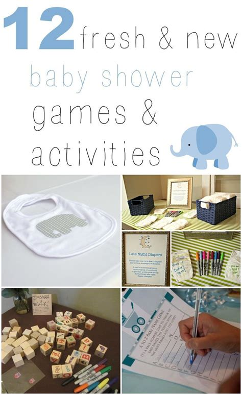 Baby Shower And Activities by These 12 Fresh New Baby Shower Activities