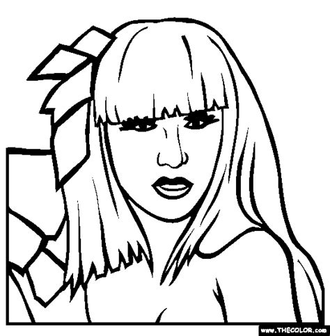 Lady Gaga Coloring Page Only Coloring Pages Gaga Coloring Pages