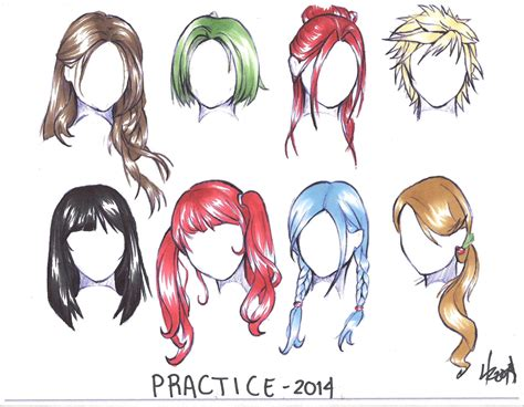 Anime Hair by Anime Hair Coloring Practice How To Draw 3d