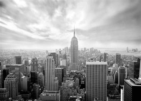 skyline  york black  white wallpaper murals