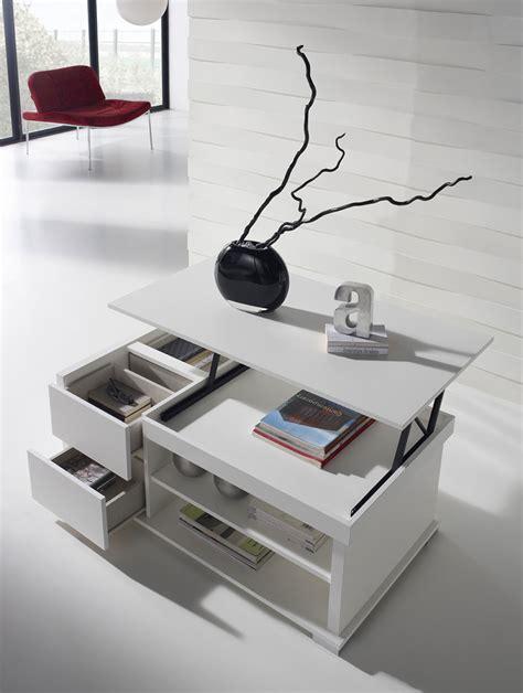 si鑒e de relevable table de salon blanc laque