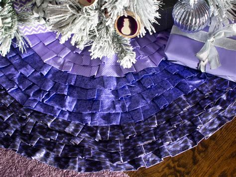 how to make a tree skirt how to make a ruffled tree skirt without sewing