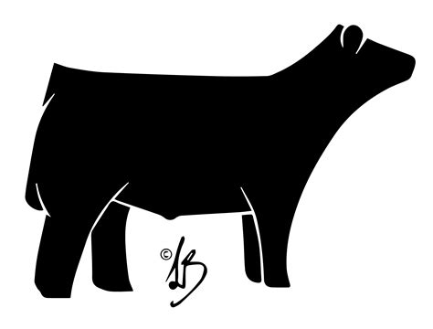 Show Heifer Outline by Steer Clipart Jaxstorm Realverse Us