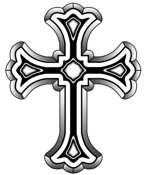 black and white cross tattoo christian cross clip designs clipart panda free