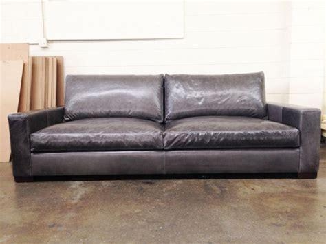 96 Braxton Leather Sofa In Glove Timberwolf The Leather Braxton Leather Sofa