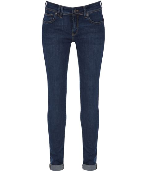 womens bench jeans bench frequency v4 slim fit denim jeans in blue denim mid