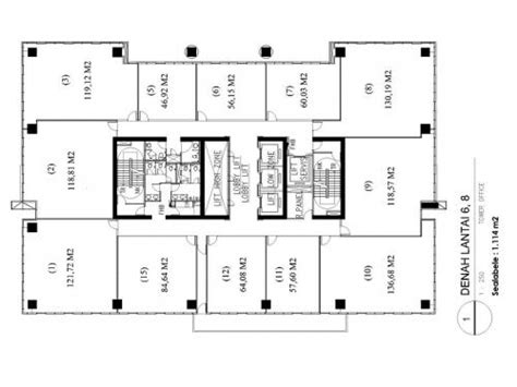 layout kantor beserta penjelasannya jual office space strata title di gedung its office tower