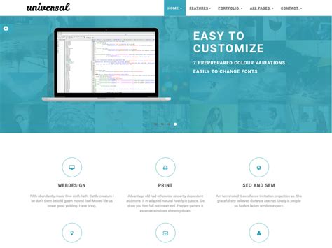 universal business ecommerce free bootstrap template
