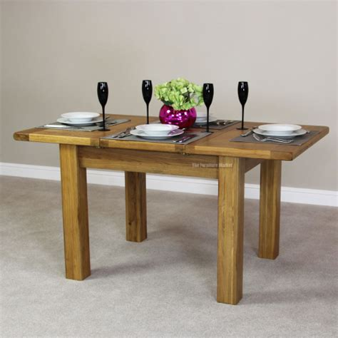 rustic oak small extending dining table seats 4 6