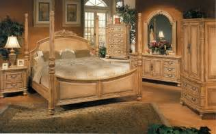 carved bedroom set with faux wicker insets antique