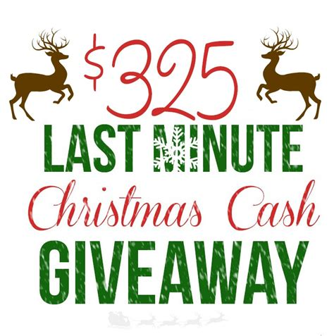 Win Money For Christmas - 325 christmas cash giveaway the country chic cottage