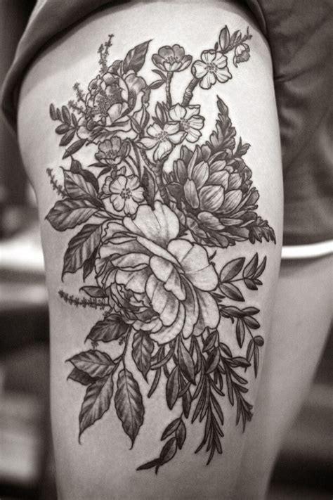 Black And Grey Flower Tattoo Tattoo Fantastic Black And Grey Flower Tattoos