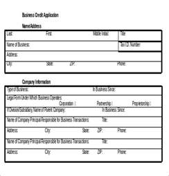 Account Application Form Template Word by Credit Application Template 32 Exles In Pdf Word