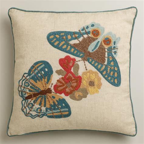 two butterflies throw pillow world market