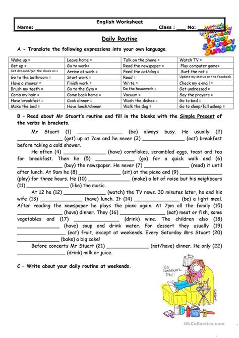 english printable worksheets daily routine adults daily routine worksheet free esl printable