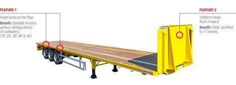 flatbed trailer headboard platform skeletal psk flatbed platform trailer dennison