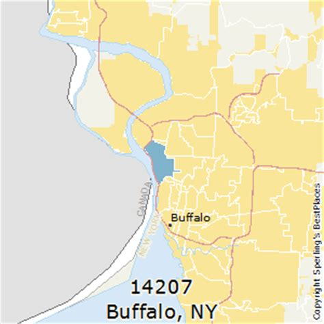 buffalo ny zip code map best places to live in buffalo zip 14207 new york